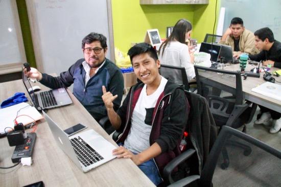 Web team members